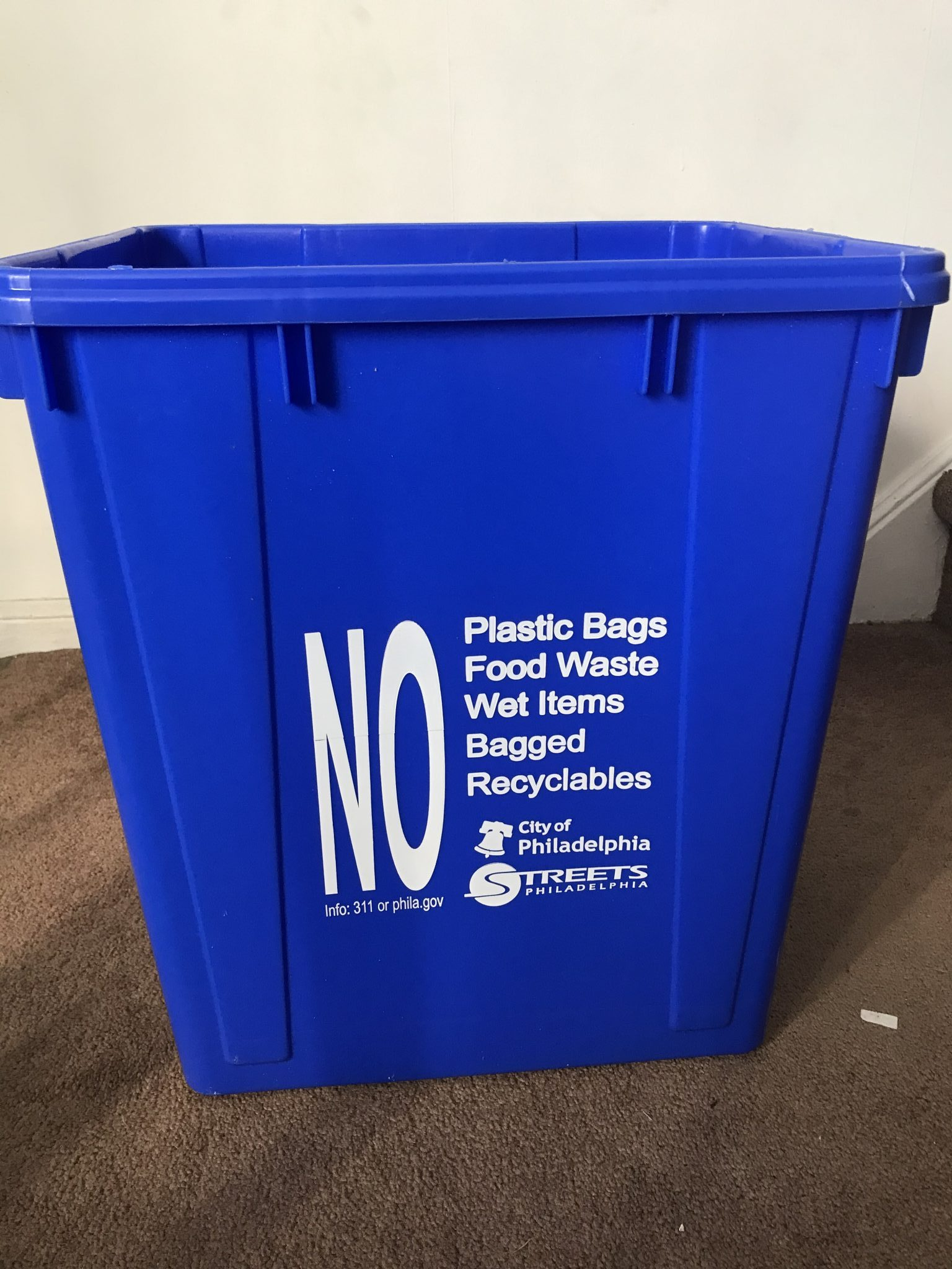 Image result for philadelphia recycling bin